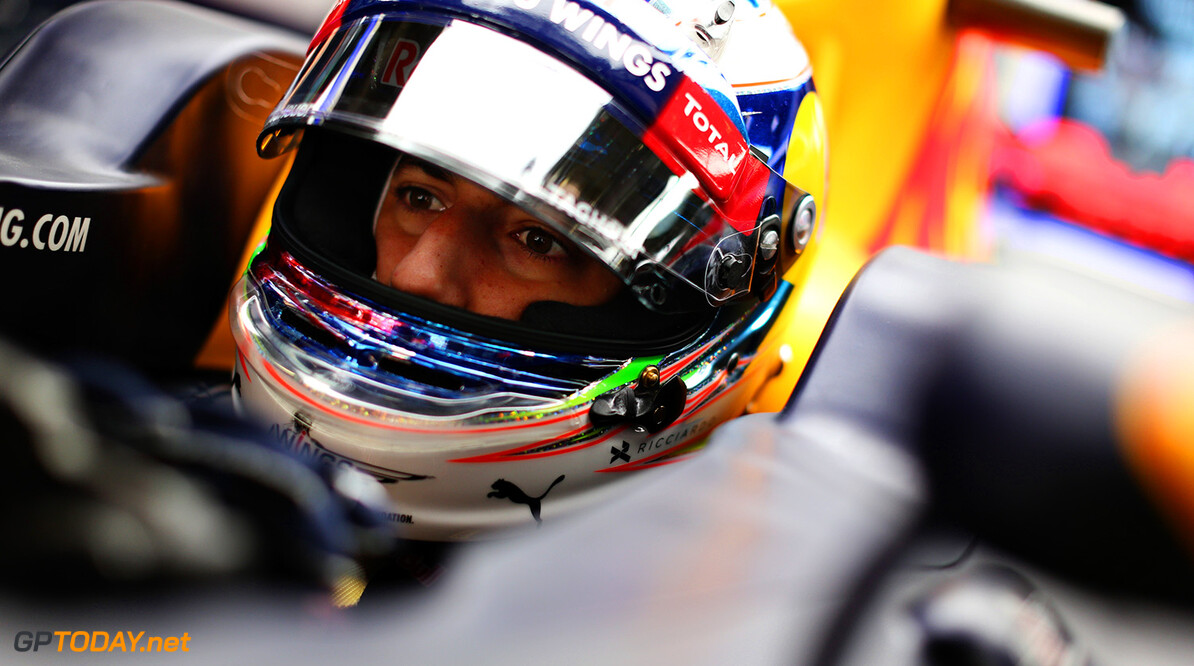 SHANGHAI, CHINA - APRIL 15: Daniel Ricciardo of Australia and Red Bull Racing sits in his car in the garage during practice for the Formula One Grand Prix of China at Shanghai International Circuit on April 15, 2016 in Shanghai, China.  (Photo by Mark Thompson/Getty Images) // Getty Images / Red Bull Content Pool  // P-20160415-00275 // Usage for editorial use only // Please go to www.redbullcontentpool.com for further information. //  F1 Grand Prix of China - Practice Mark Thompson Shanghai China  P-20160415-00275