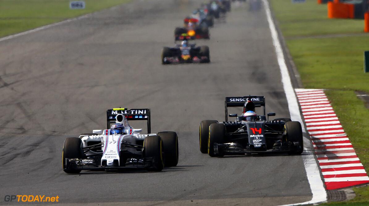 Shanghai International Circuit, Shanghai, China. Sunday 17 April 2016. Valtteri Bottas, Williams FW38 Mercedes. Photo: Andy Hone/Williams ref: Digital Image _ONZ5418