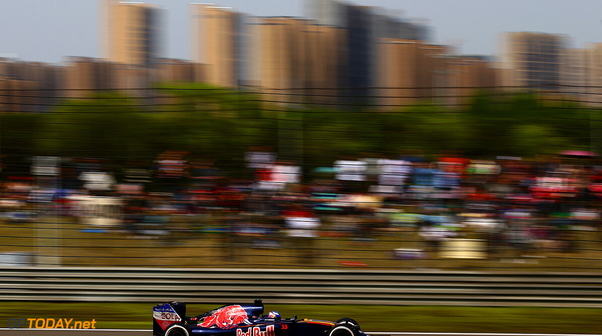 SHANGHAI, CHINA - APRIL 17: Max Verstappen of the Netherlands driving the (33) Scuderia Toro Rosso STR11 Ferrari 060/5 turbo on track during the Formula One Grand Prix of China at Shanghai International Circuit on April 17, 2016 in Shanghai, China.  (Photo by Dan Istitene/Getty Images) // Getty Images / Red Bull Content Pool  // P-20160417-00239 // Usage for editorial use only // Please go to www.redbullcontentpool.com for further information. //  F1 Grand Prix of China Dan Istitene Shanghai China  P-20160417-00239