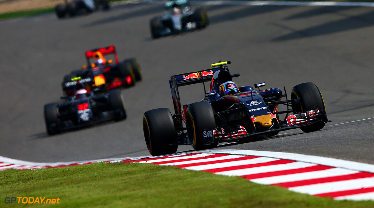 SHANGHAI, CHINA - APRIL 17:  Carlos Sainz of Spain drives the 5 Scuderia Toro Rosso STR11 Ferrari 060/5 turbo during the Formula One Grand Prix of China at Shanghai International Circuit on April 17, 2016 in Shanghai, China.  (Photo by Dan Istitene/Getty Images) // Getty Images / Red Bull Content Pool  // P-20160417-00365 // Usage for editorial use only // Please go to www.redbullcontentpool.com for further information. //  F1 Grand Prix of China Dan Istitene Shanghai China  P-20160417-00365