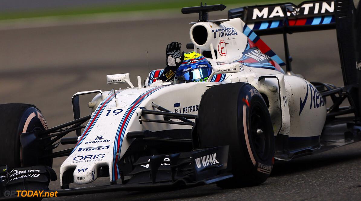 Shanghai International Circuit, Shanghai, China. Sunday 17 April 2016. Felipe Massa, Williams FW38 Mercedes.  Photo: Andy Hone/Williams ref: Digital Image _ONZ5923