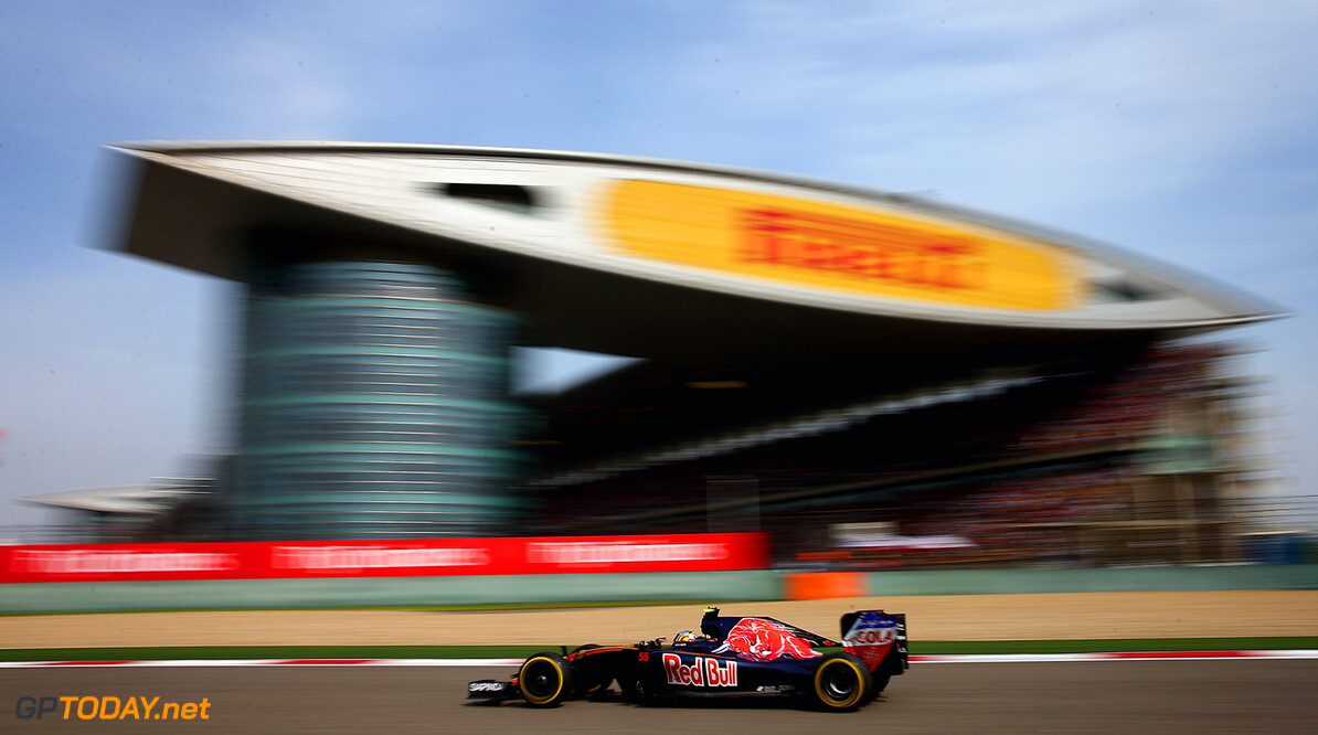 SHANGHAI, CHINA - APRIL 17: Carlos Sainz of Spain driving the (55) Scuderia Toro Rosso STR11 Ferrari 060/5 turbo on track during the Formula One Grand Prix of China at Shanghai International Circuit on April 17, 2016 in Shanghai, China.  (Photo by Clive Mason/Getty Images) // Getty Images / Red Bull Content Pool  // P-20160417-00215 // Usage for editorial use only // Please go to www.redbullcontentpool.com for further information. //  F1 Grand Prix of China Clive Mason Shanghai China  P-20160417-00215