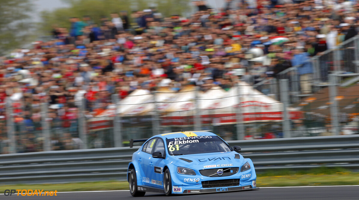61 EKBLOM Fredrik (swe) Volvo S60 team Volvo Polestar action during the 2016 FIA WTCC World Touring Car Championship race of Slovakia at Slovakia Ring, from April 15 to 17 2016 - Photo Fran?ois Flamand / DPPI. AUTO - WTCC SLOVAKIA 2016 Francois Flamand Orechova Poton Slovaquie  auto championnat du monde circuit course fia motorsport slovaquie tourisme wtcc avril