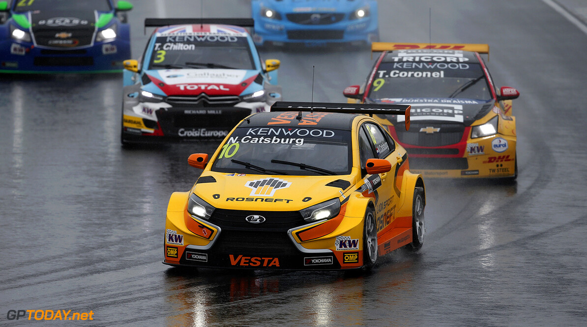 10 CATSBURG Nicky (ned) Lada Vesta team Lada Sport Rosneft action during the 2016 FIA WTCC World Touring Car Race of Hungary at hungaroring, Budapest from April 22 to 24, 2016 - Photo Jean Michel Le Meur / DPPI AUTO - WTCC HUNGARY 2016 Jean Michel Le Meur Budapest Hongrie  auto championnat du monde circuit course europe fia hongrie motorsport tourisme wtcc avril