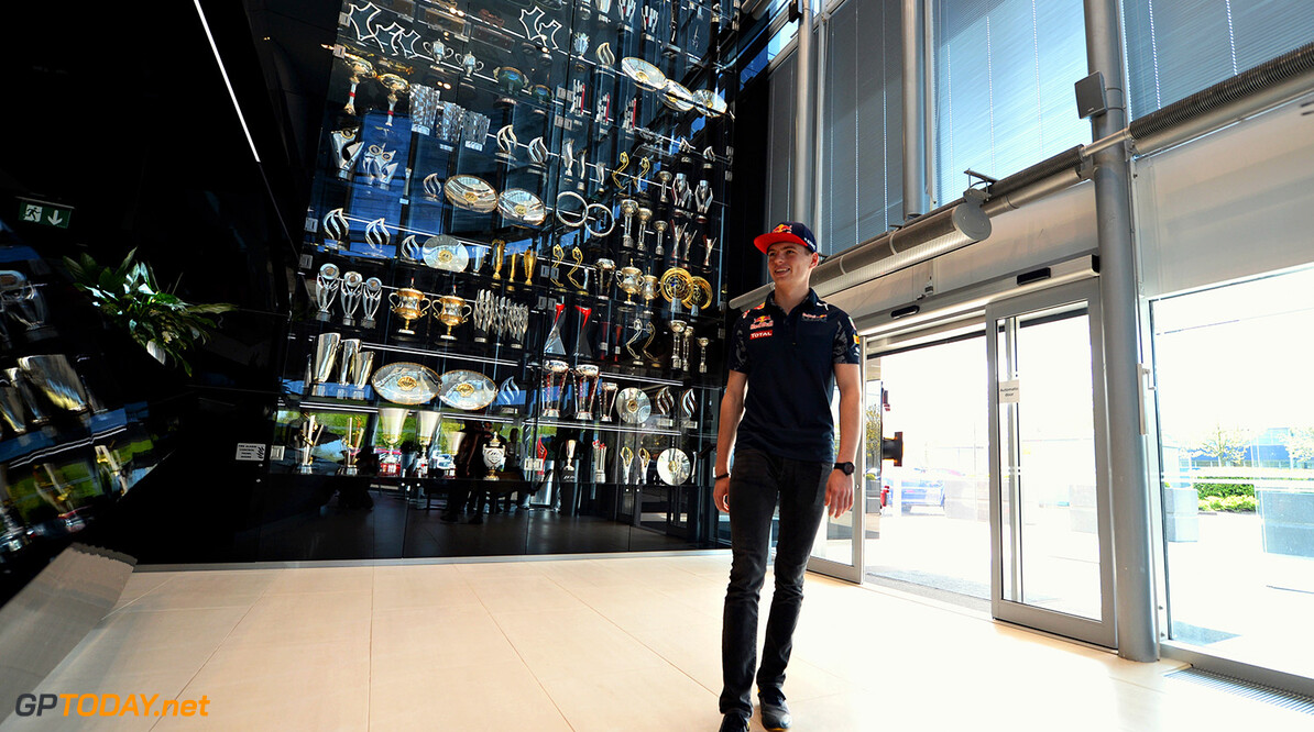 MILTON KEYNES, UNITED KINGDOM - MAY 05:  Max Verstappen of the Netherlands and Red Bull Racing arrives at the Red Bull Racing Factory on May 5, 2016 at the Red Bull Racing Factory, Milton Keynes, England.  (Photo by Tony Marshall/Getty Images) // Getty Images / Red Bull Content Pool  // P-20160505-00215 // Usage for editorial use only // Please go to www.redbullcontentpool.com for further information. //  Max Verstappen at Red Bull Racing Factory Tony Marshall  Spain  P-20160505-00215