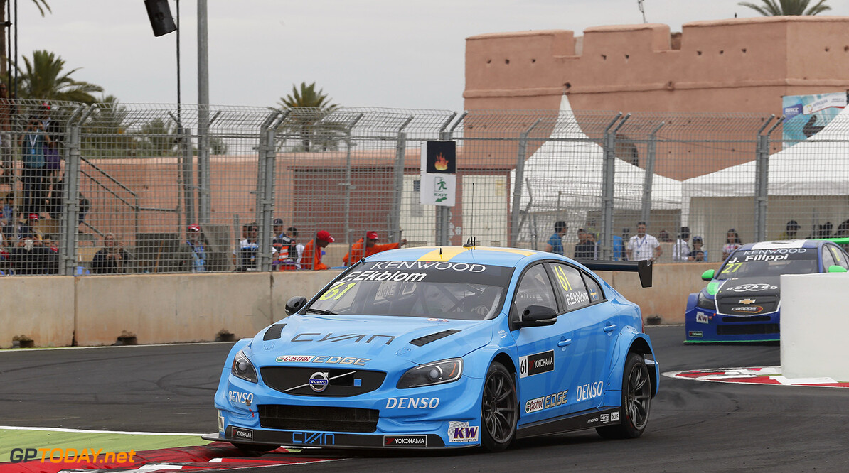 61 EKBLOM Fredrik (swe) Volvo S60 team Polestar Cyan racing action during the 2016 FIA WTCC World Touring Car Race of Morocco at Marrakech, from May 6 to 8  2016 - Photo Jean Michel Le Meur / DPPI. AUTO - WTCC MARRAKECH 2016 Jean Michel Le Meur Marrakech Maroc  april auto avril championnat du monde circuit course fia maroc motorsport tourisme wtcc