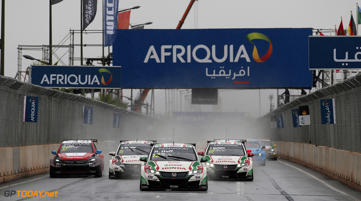 12 HUFF Rob (GBR) Honda Civic team Castrol Honda WTCC action START 2 during the 2016 FIA WTCC World Touring Car Race of Morocco at Marrakech, from May 6 to 8  2016 - Photo Jean Michel Le Meur / DPPI. AUTO - WTCC MARRAKECH 2016 Jean Michel Le Meur Marrakech Maroc  april auto avril championnat du monde circuit course fia maroc motorsport tourisme wtcc