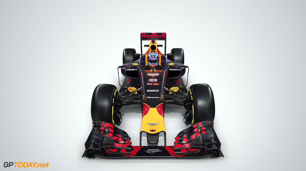 Max Verstappen's Red Bull Racing RB12 seen during a studio shoot in UK on February 20th, 2016 // Benedict Redgrove / Red Bull Content Pool // P-20160509-01568 // Usage for editorial use only // Please go to www.redbullcontentpool.com for further information. //  RB12   United Kingdom  P-20160509-01568