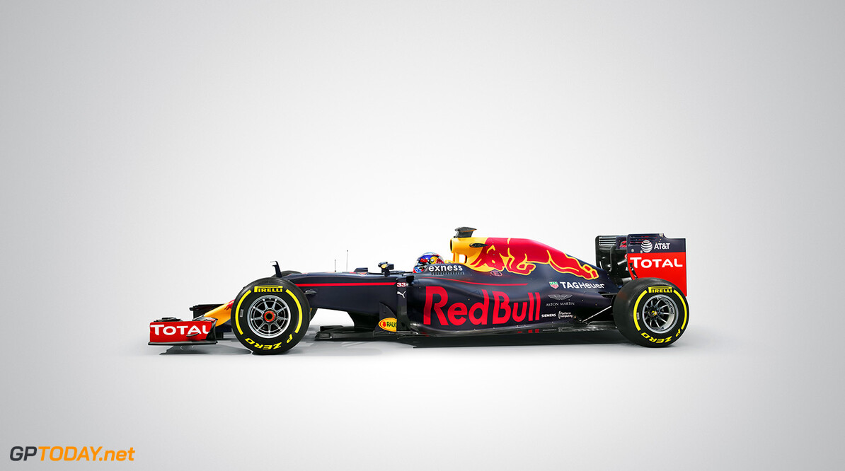 Max Verstappen's Red Bull Racing RB12 seen during a studio shoot in UK on February 20th, 2016 // Benedict Redgrove / Red Bull Content Pool // P-20160509-01565 // Usage for editorial use only // Please go to www.redbullcontentpool.com for further information. //  RB12   United Kingdom  P-20160509-01565