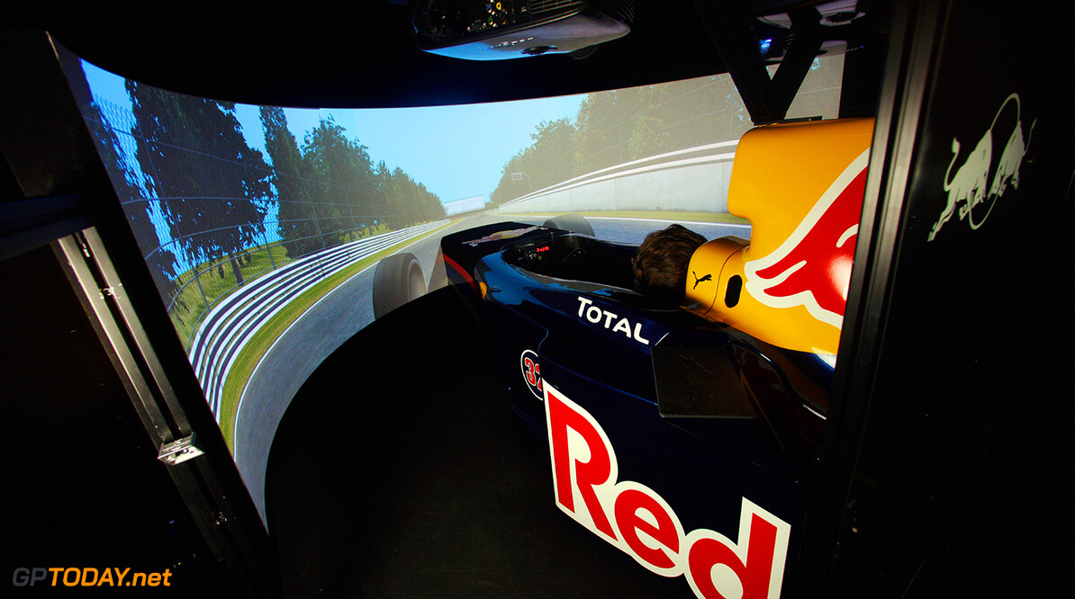 MILTON KEYNES, UNITED KINGDOM - JUNE 03:  General view of the Red Bull Racing simulator at the team factory in Milton Keynes after the Turkish Grand Prix on 3 June, 2010 in Milton Keynes, United Kingdom.  (Photo by Getty Images for Red Bull) // Getty Images/Red Bull Content Pool // P-20141218-00100 // Usage for editorial use only // Please go to www.redbullcontentpool.com for further information. //  The Factory Getty Images Milton Keynes United Kingdom  P-20141218-00100