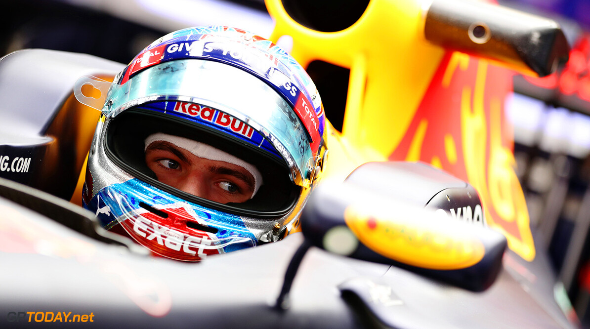 MONTMELO, SPAIN - MAY 12: Max Verstappen of Netherlands and Red Bull Racing sits in his car in the garage during previews to the Spanish Formula One Grand Prix at Circuit de Catalunya on May 12, 2016 in Montmelo, Spain.  (Photo by Mark Thompson/Getty Images) // Getty Images / Red Bull Content Pool  // P-20160512-00199 // Usage for editorial use only // Please go to www.redbullcontentpool.com for further information. //  Spanish F1 Grand Prix - Previews Mark Thompson  Spain  P-20160512-00199