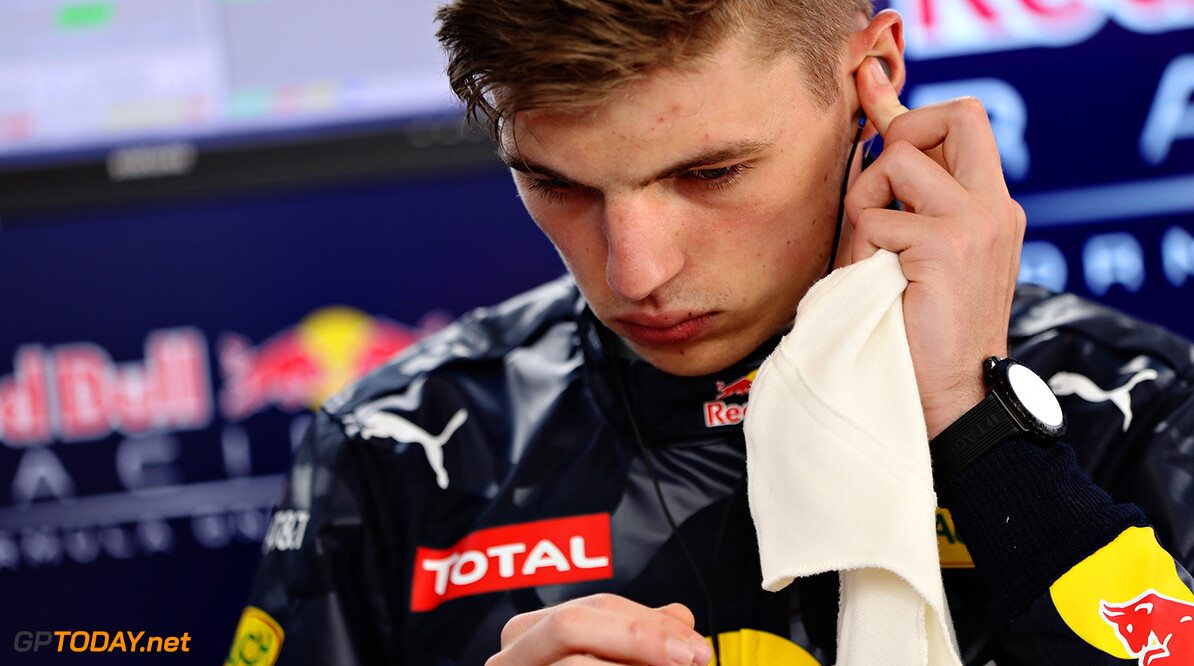 MONTMELO, SPAIN - MAY 12: Max Verstappen of Netherlands and Red Bull Racing gets ready in the garage during previews to the Spanish Formula One Grand Prix at Circuit de Catalunya on May 12, 2016 in Montmelo, Spain.  (Photo by Mark Thompson/Getty Images) // Getty Images / Red Bull Content Pool  // P-20160512-00196 // Usage for editorial use only // Please go to www.redbullcontentpool.com for further information. //  Spanish F1 Grand Prix - Previews Mark Thompson  Spain  P-20160512-00196