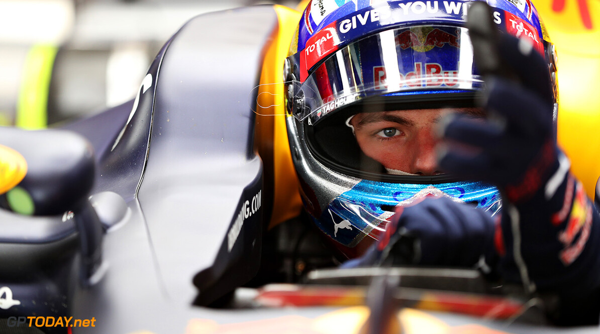 MONTMELO, SPAIN - MAY 13:  Max Verstappen of Netherlands and Red Bull Racing sits in his car in the garage during practice for the Spanish Formula One Grand Prix at Circuit de Catalunya on May 13, 2016 in Montmelo, Spain.  (Photo by Mark Thompson/Getty Images) // Getty Images / Red Bull Content Pool  // P-20160513-00789 // Usage for editorial use only // Please go to www.redbullcontentpool.com for further information. //  Spanish F1 Grand Prix - Practice Mark Thompson  Spain  P-20160513-00789