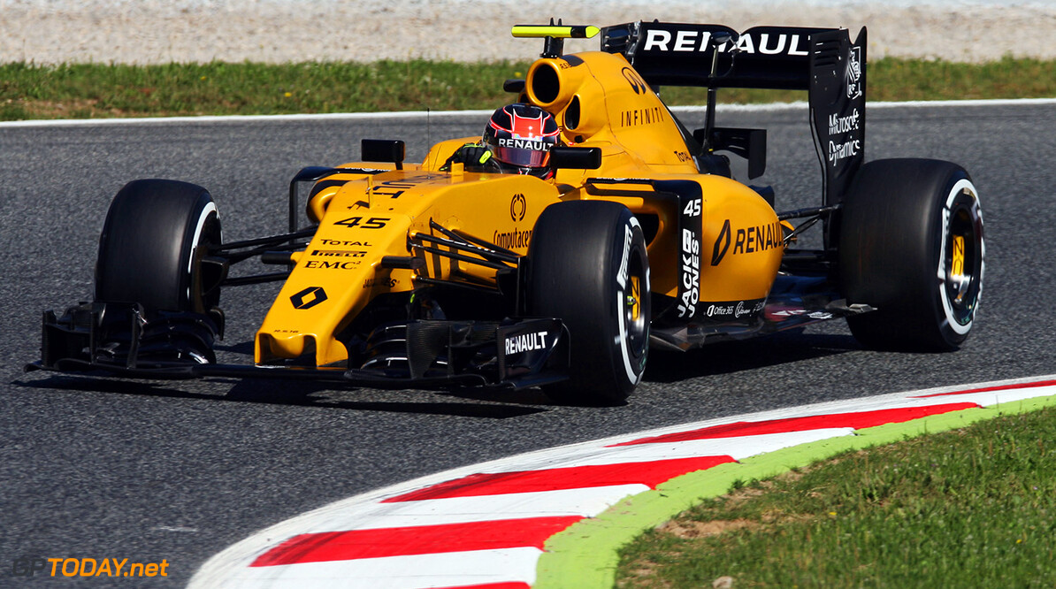 Formula One World Championship Esteban Ocon (FRA) Renault Sport F1 Team R16 Test Driver. Spanish Grand Prix, Friday 13th May 2016. Barcelona, Spain. Motor Racing - Formula One World Championship - Spanish Grand Prix - Practice Day - Barcelona, Spain Renault Sport Formula One Team Barcelona Spain  Formula One Formula 1 F1 GP Grand Prix Spanish Spain Barcelona Catalunya Circuit de Catalunya Montmelo JM563 Action Track GP1605c
