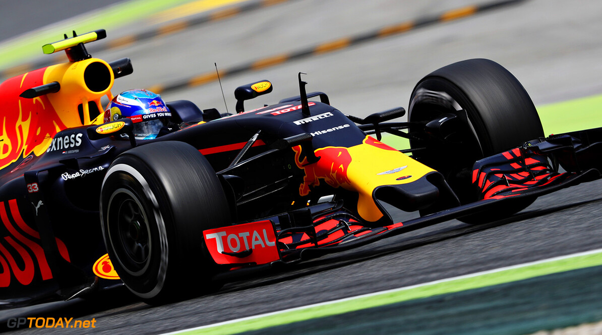 MONTMELO, SPAIN - MAY 13: Max Verstappen of the Netherlands driving the (33) Red Bull Racing Red Bull-TAG Heuer RB12 TAG Heuer on track during practice for the Spanish Formula One Grand Prix at Circuit de Catalunya on May 13, 2016 in Montmelo, Spain.  (Photo by Mark Thompson/Getty Images) // Getty Images / Red Bull Content Pool  // P-20160513-00947 // Usage for editorial use only // Please go to www.redbullcontentpool.com for further information. //  Spanish F1 Grand Prix - Practice Mark Thompson  Spain  P-20160513-00947