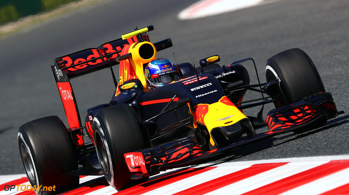 MONTMELO, SPAIN - MAY 13: Max Verstappen of the Netherlands driving the (33) Red Bull Racing Red Bull-TAG Heuer RB12 TAG Heuer on track during practice for the Spanish Formula One Grand Prix at Circuit de Catalunya on May 13, 2016 in Montmelo, Spain.  (Photo by Clive Mason/Getty Images) // Getty Images / Red Bull Content Pool  // P-20160513-00644 // Usage for editorial use only // Please go to www.redbullcontentpool.com for further information. //  Spanish F1 Grand Prix - Practice Clive Mason  Spain  P-20160513-00644