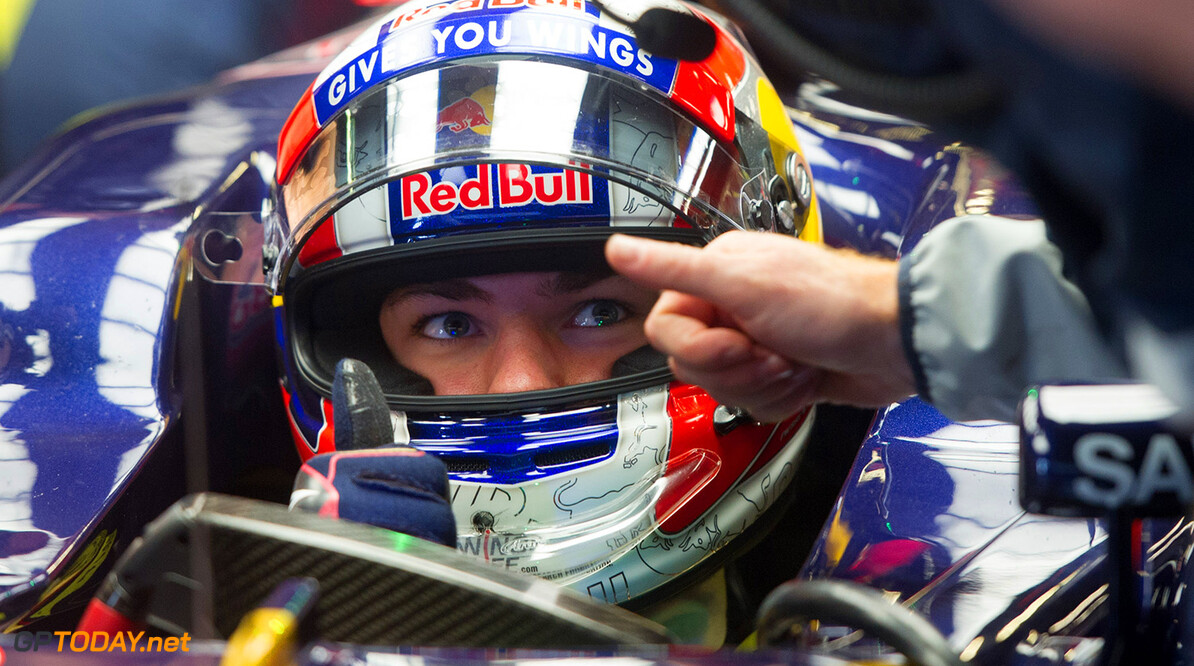 MONTMELO, SPAIN - MAY 17:  Pierre Gasly of France sits in his car in the garage as he drives for Scuderia Toro Rosso during day one of F1 in-season tests at Circuit de Catalunya on May 17, 2016 in Montmelo, Spain.  (Photo by Alex Caparros/Getty Images) // Getty Images / Red Bull Content Pool  // P-20160517-00351 // Usage for editorial use only // Please go to www.redbullcontentpool.com for further information. //  F1 Testing In Barcelona Alex Caparros  Spain  P-20160517-00351