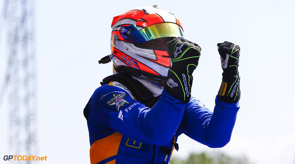2016 GP2 Series Round 1.  Circuit de Catalunya, Barcelona, Spain. Sunday 15 May 2016. Alex Lynn, (GBR, DAMS)  Photo: Zak Mauger/GP2 Series Media Service. ref: Digital Image _L0U9727   Zak Mauger    Race Two 2 Sprint portrait