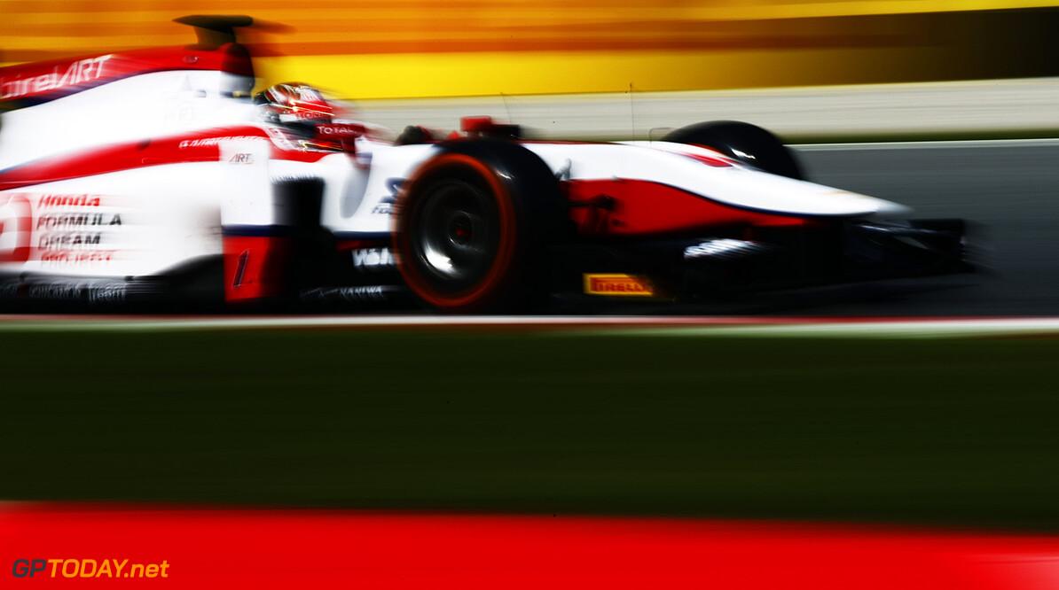2016 GP2 Series Round 1.  Circuit de Catalunya, Barcelona, Spain. Saturday 14 May 2016. Nobuharu Matsushita (JPN, ART Grand Prix). Photo: Zak Mauger/GP2 Series Media Service. ref: Digital Image _L0U8780   Zak Mauger    Race One 1 Feature action