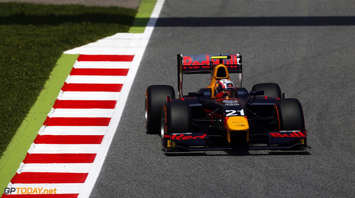 2016 GP2 Series Round 1 Circuit de Catalunya, Barcelona, Spain. Friday 13 May 2016. Pierre Gasly (FRA, PREMA, Racing)  Photo: Sam Bloxham/GP2 Series Media Service. ref: Digital Image _R6T7510  Sam Bloxham    Practice action