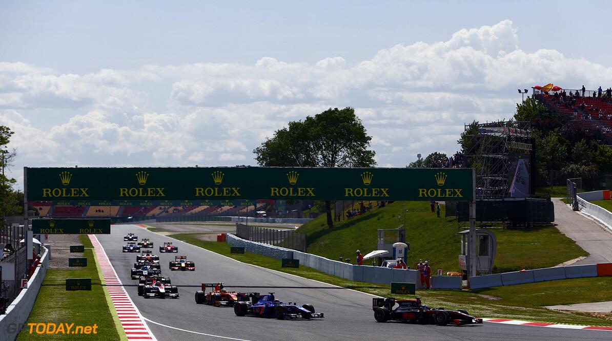 2016 GP2 Series Round 1.  Circuit de Catalunya, Barcelona, Spain. Saturday 14 May 2016. Gustav Malja (SWE, Rapax). Photo: Zak Mauger/GP2 Series Media Service. ref: Digital Image _L0U8642   Zak Mauger    Race One 1 Feature action
