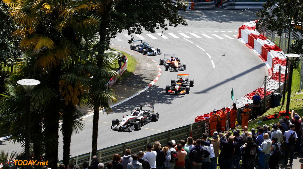 FIA Formula 3 European Championship, round 3, race 3, Pau (FRA) 12 George Russell (GBR, HitechGP, Dallara F312 - Mercedes-Benz), 6 Callum Ilott (GBR, Van Amersfoort Racing, Dallara F312 - Mercedes-Benz), 7 Mikkel Jensen (DEN, kfzteile24 M?cke Motorsport, Dallara F312 - Mercedes-Benz), 3 Ryan Tveter (USA, Carlin, Dallara F312 - Volkswagen), FIA Formula 3 European Championship, round 3, race 3, Pau (FRA), 13. - 15. May 2016 FIA Formula 3 European Championship 2016, round 3, race 3, Pau (FRA) Thomas Suer Pau France