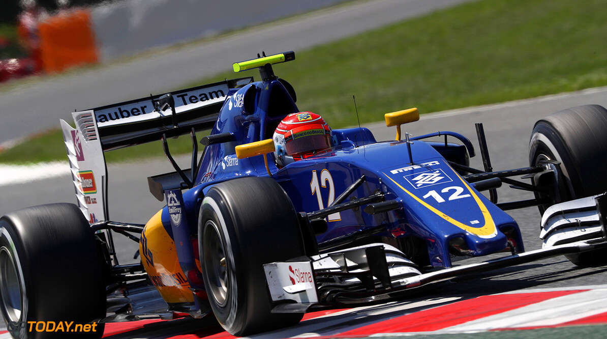 Spanish GP Race 15/05/16 Felipe Nasr (BRA), Sauber F1 Team.  Circuit de Barcelona-Catalunya.  Spanish GP Race 15/05/16 Jad Sherif                       Montmelo Spain  F1 Formula 1 One 2016 action Nasr Sauber