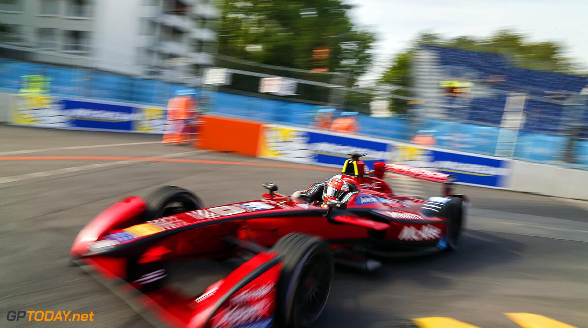 Practice Session. Loic Duval (FRA), Dragon Racing - Venturi VM200-FE-01. Berlin e-Prix, Alexanderplatz, Germany, Europe. Saturday 21 May 2016 Photo: Adam Warner / LAT / FE ref: Digital Image _L5R9890   Adam Warner