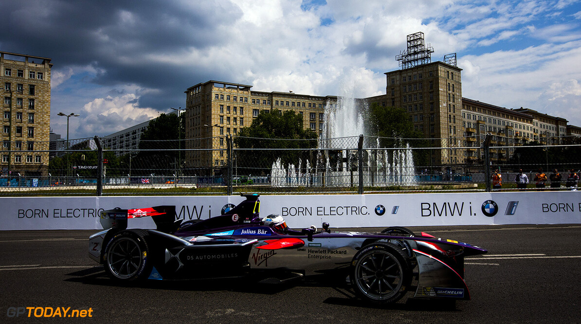 2015/2016 FIA Formula E Championship. Berlin ePrix, Berlin, Germany. Saturday 21 May 2016. Sam Bird (GBR), DS Virgin Racing DSV-01  Photo: Zak Mauger/LAT/Formula E ref: Digital Image _79P2770  Zak Mauger    fe formula e action