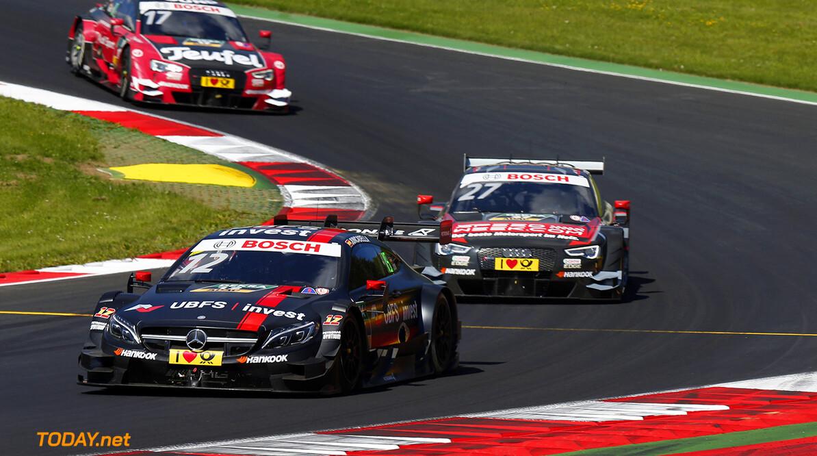 #12 Daniel Juncadella, Mercedes-AMG C 63 DTM, #27 Adrien Tambay, Audi RS5 DTM, #17 Miguel Molina, Audi RS5 DTM