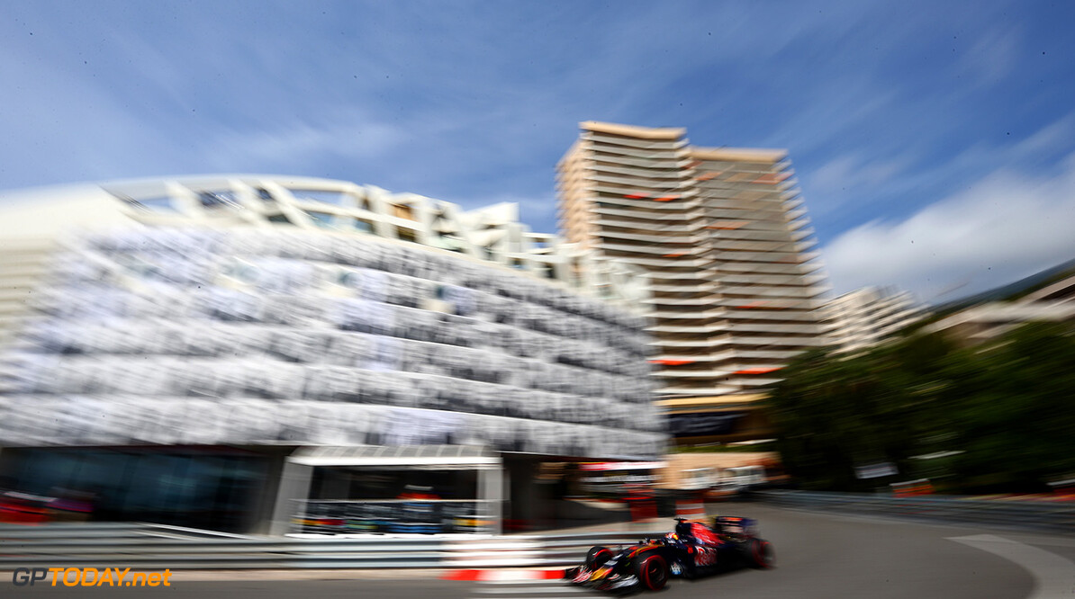 MONTE-CARLO, MONACO - MAY 26: Daniil Kvyat of Russia driving the (26) Scuderia Toro Rosso STR11 Ferrari 060/5 turbo on track during practice for the Monaco Formula One Grand Prix at Circuit de Monaco on May 26, 2016 in Monte-Carlo, Monaco.  (Photo by Dan Istitene/Getty Images) // Getty Images / Red Bull Content Pool  // P-20160526-00363 // Usage for editorial use only // Please go to www.redbullcontentpool.com for further information. //  F1 Grand Prix of Monaco - Practice Dan Istitene Monte-Carlo (City) Monaco  P-20160526-00363