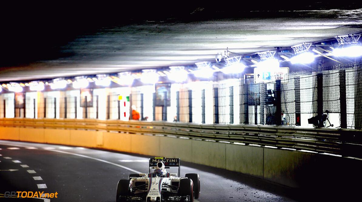 Monte Carlo, Monaco. Thursday 26 May 2016. Valtteri Bottas, Williams FW38 Mercedes. Photo: Glenn Dunbar/Williams ref: Digital Image _W2Q2906      Action