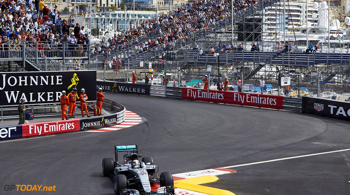 Archivnummer: M28677 Grosser Preis von Monaco 2016, Donnerstag 2016 Monaco Grand Prix, Thursday Steve Etherington Monte Carlo Monaco  Monaco Grand Prix Donnerstag Lewis Hamilton 2016 Circuit de Monaco