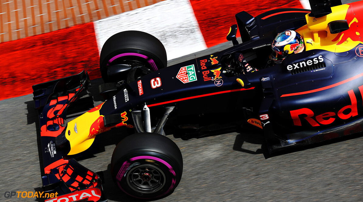 MONTE-CARLO, MONACO - MAY 26: Daniel Ricciardo of Australia driving the (3) Red Bull Racing Red Bull-TAG Heuer RB12 TAG Heuer on track during practice for the Monaco Formula One Grand Prix at Circuit de Monaco on May 26, 2016 in Monte-Carlo, Monaco.  (Photo by Mark Thompson/Getty Images) // Getty Images / Red Bull Content Pool  // P-20160526-00456 // Usage for editorial use only // Please go to www.redbullcontentpool.com for further information. //  F1 Grand Prix of Monaco - Practice Mark Thompson Monte-Carlo (City) Monaco  P-20160526-00456