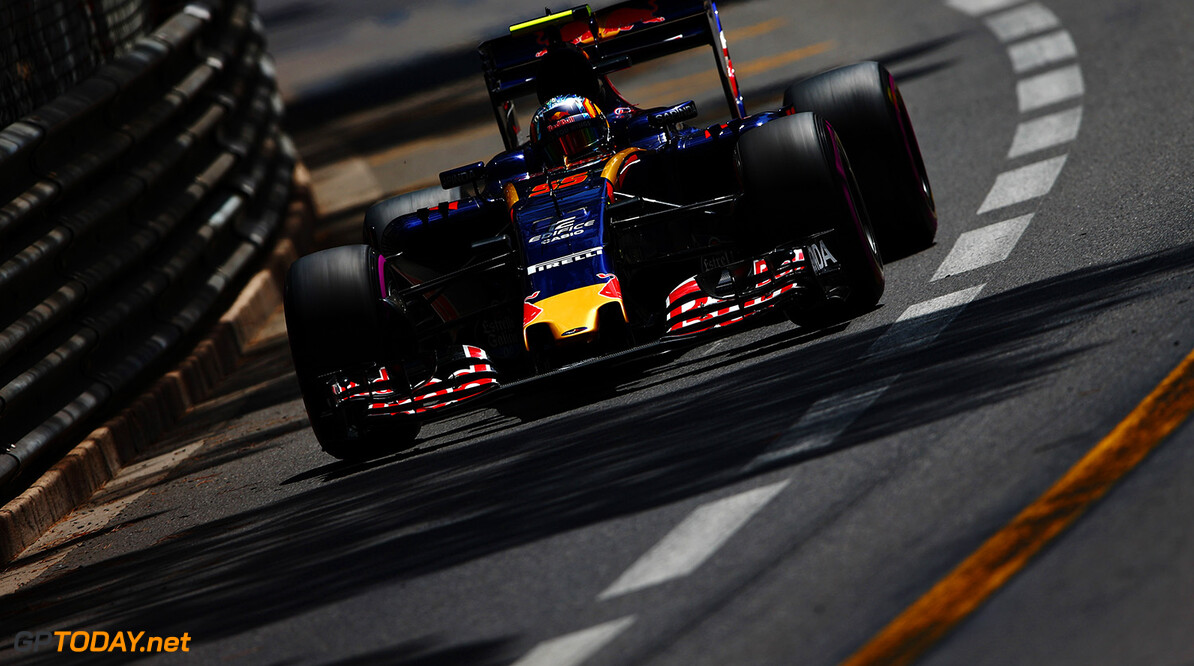 MONTE-CARLO, MONACO - MAY 26: Carlos Sainz of Spain driving the (55) Scuderia Toro Rosso STR11 Ferrari 060/5 turbo on track during practice for the Monaco Formula One Grand Prix at Circuit de Monaco on May 26, 2016 in Monte-Carlo, Monaco.  (Photo by Dan Istitene/Getty Images) // Getty Images / Red Bull Content Pool  // P-20160526-00462 // Usage for editorial use only // Please go to www.redbullcontentpool.com for further information. //  F1 Grand Prix of Monaco - Practice Dan Istitene Monte-Carlo (City) Monaco  P-20160526-00462