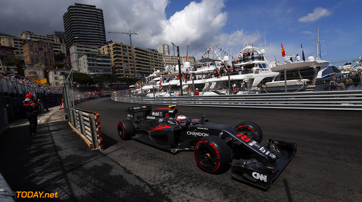 Jenson Button on track.  Sam Bloxham