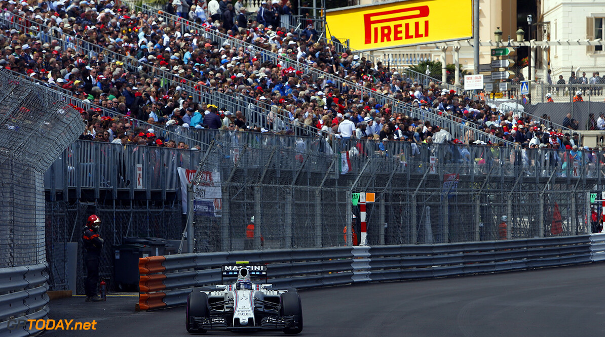 Monte Carlo, Monaco. Sunday 29 May 2016. Valtteri Bottas, Williams FW38 Mercedes. Photo: Andrew Ferraro/Williams ref: Digital Image _FER5411      Action