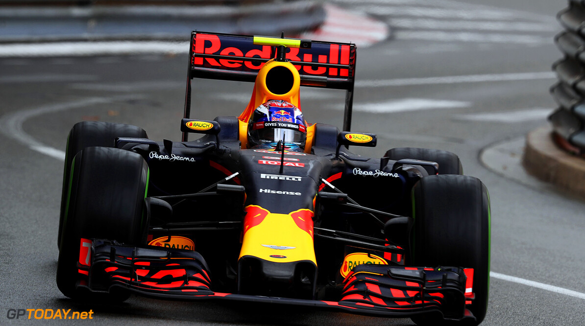 MONTE-CARLO, MONACO - MAY 29: Max Verstappen of the Netherlands driving the (33) Red Bull Racing Red Bull-TAG Heuer RB12 TAG Heuer on track during the Monaco Formula One Grand Prix at Circuit de Monaco on May 29, 2016 in Monte-Carlo, Monaco.  (Photo by Lars Baron/Getty Images) // Getty Images / Red Bull Content Pool  // P-20160529-01877 // Usage for editorial use only // Please go to www.redbullcontentpool.com for further information. //  F1 Grand Prix of Monaco Lars Baron Monte-Carlo (City) Monaco  P-20160529-01877