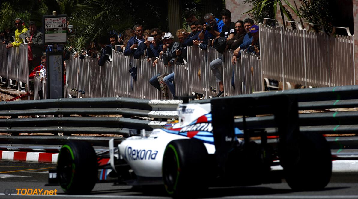 Monte Carlo, Monaco. Sunday 29 May 2016. Felipe Massa, Williams FW38 Mercedes. Photo: Sam Bloxham/Williams ref: Digital Image _L4R6190      Action