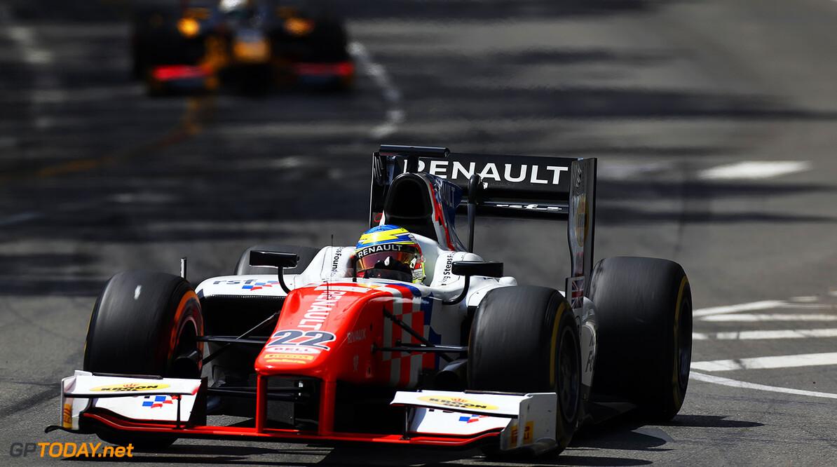 2016 GP2 Series Round 2 Monte Carlo, Monaco. Friday 27 May 2016. Oliver Rowland (GBR, MP Motorsport)  Photo: Sam Bloxham/GP2 Series Media Service. ref: Digital Image _R6T5093  Sam Bloxham    Race 1 one feature action