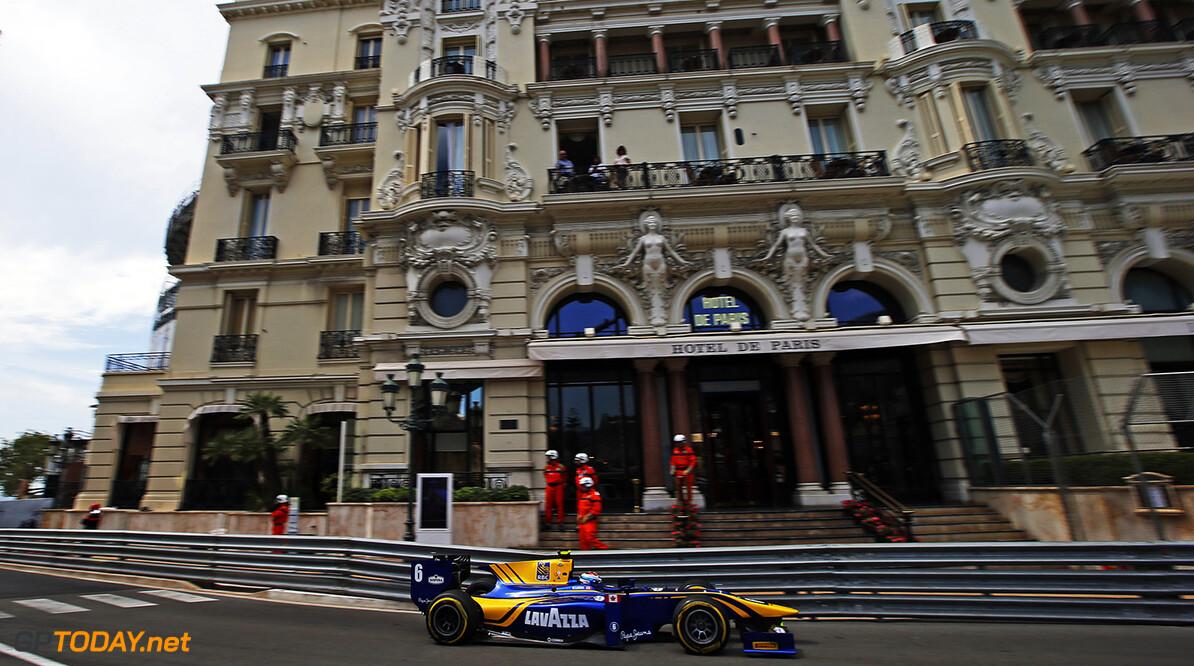 2016 GP2 Series Round 2 Monte Carlo, Monaco. Friday 27 May 2016. Nicholas Latifi (CAN, DAMS)  Photo: Sam Bloxham/GP2 Series Media Service. ref: Digital Image _L4R4703  Sam Bloxham    Race 1 one feature action