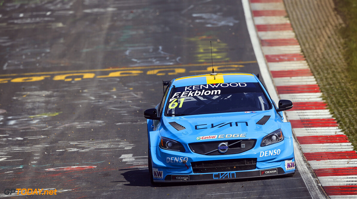 61 EKBLOM Fredrik (swe) Volvo S60 team Polestar Cyan racing action during the 2016 FIA WTCC World Touring Car Race of Nurburgring, Germany from May 27 to 29 - Photo Florent Gooden / DPPI AUTO - WTCC NURBURGING 2016 Florent Gooden Nurburg Allemagne  AUTO CHAMPIONNAT DU MONDE CIRCUIT COURSE FIA Motorsport TOURISME WTCC allemagne europe