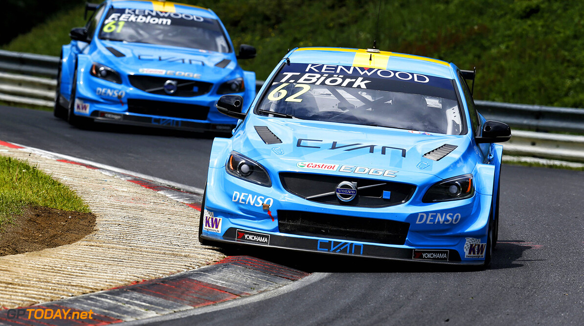 62 BJORK Thed (swe) Volvo S60 team Polestar Cyan racing action during the 2016 FIA WTCC World Touring Car Race of Nurburgring, Germany from May 27 to 29 - Photo Cl?ment Marin / DPPI AUTO - WTCC NURBURGING 2016 Clement Marin Nurburg Allemagne  allemagne auto championnat du monde circuit course europe fia motorsport tourisme wtcc