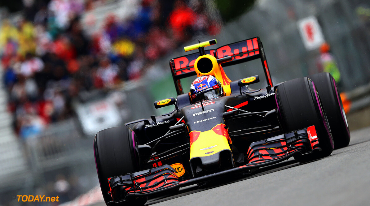 MONTREAL, QC - JUNE 11: Max Verstappen of the Netherlands driving the (33) Red Bull Racing Red Bull-TAG Heuer RB12 TAG Heuer on track during final practice ahead of the Canadian Formula One Grand Prix at Circuit Gilles Villeneuve on June 11, 2016 in Montreal, Canada.  (Photo by Mark Thompson/Getty Images) // Getty Images / Red Bull Content Pool  // P-20160611-00587 // Usage for editorial use only // Please go to www.redbullcontentpool.com for further information. //  Canadian F1 Grand Prix - Qualifying Mark Thompson Montreal (City) Canada  P-20160611-00587