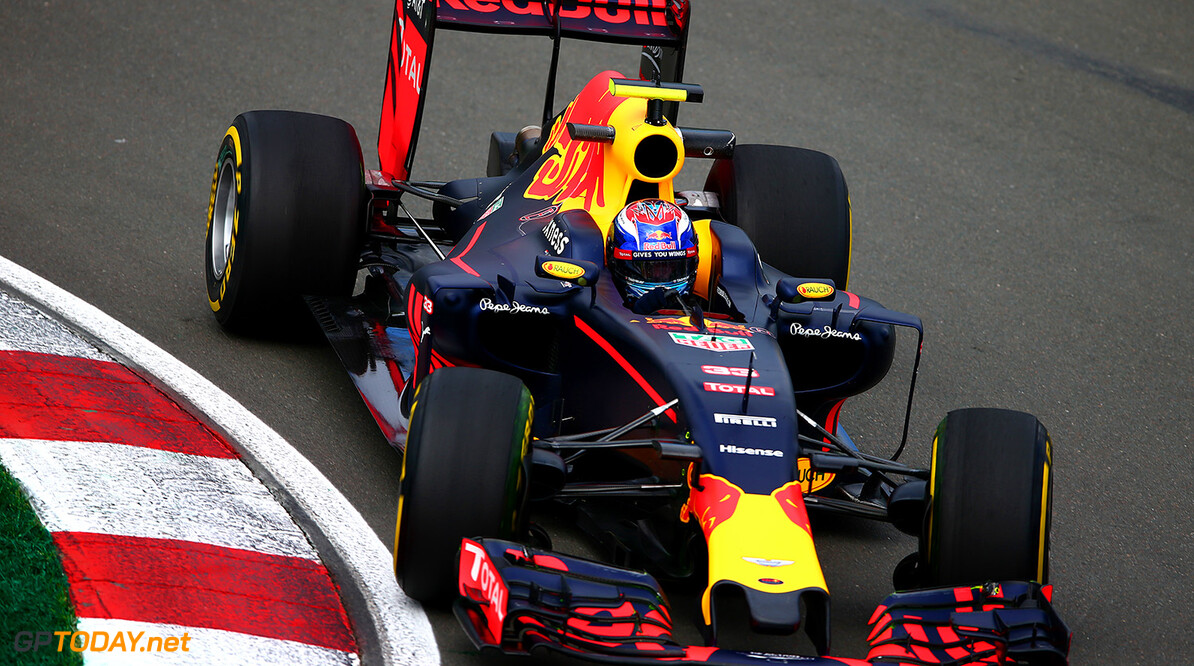 MONTREAL, QC - JUNE 10:  Max Verstappen of the Netherlands drives the 6 Red Bull Racing Red Bull-TAG Heuer RB12 TAG Heuer during practice for the Canadian Formula One Grand Prix at Circuit Gilles Villeneuve on June 9, 2016 in Montreal, Canada.  (Photo by Dan Istitene/Getty Images) // Getty Images / Red Bull Content Pool  // P-20160610-01060 // Usage for editorial use only // Please go to www.redbullcontentpool.com for further information. //  Canadian F1 Grand Prix - Practice Dan Istitene Montreal (City) Canada  P-20160610-01060
