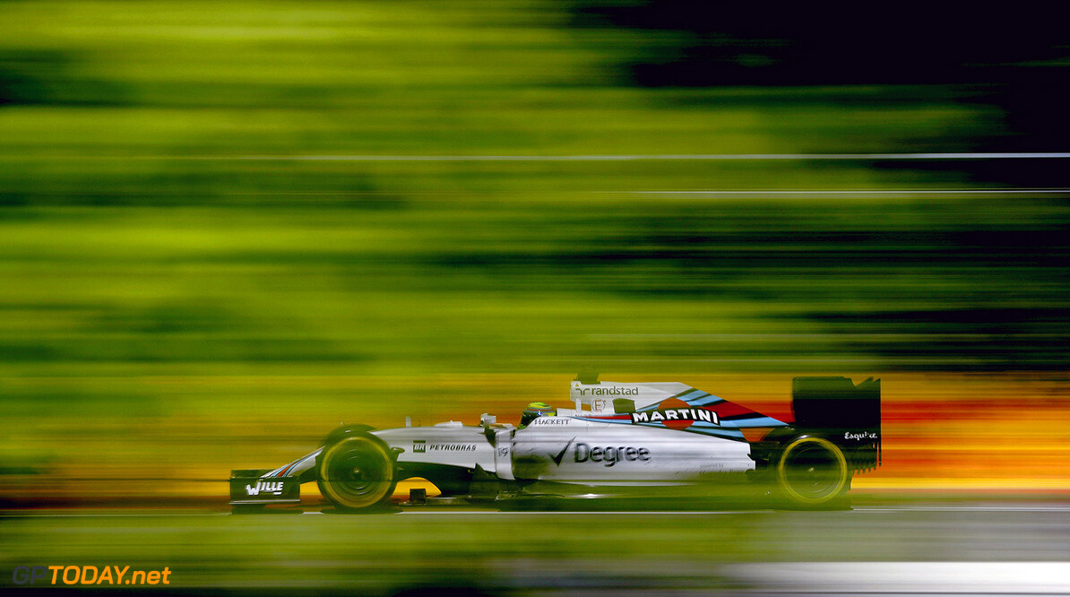 Circuit Gilles Villeneuve, Montreal, Canada. Friday 10 June 2016. Felipe Massa, Williams FW38 Mercedes. Photo: Glenn Dunbar/Williams ref: Digital Image _V2I1855      Action