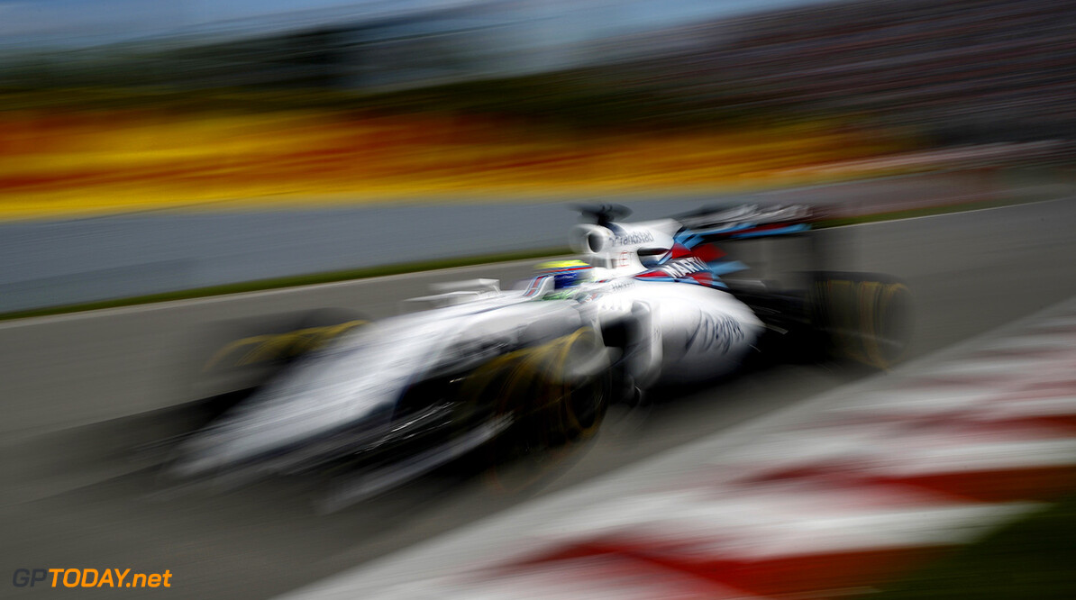 Circuit Gilles Villeneuve, Montreal, Canada. Friday 10 June 2016. Felipe Massa, Williams FW38 Mercedes. Photo: Glenn Dunbar/Williams ref: Digital Image _V2I1178      Action