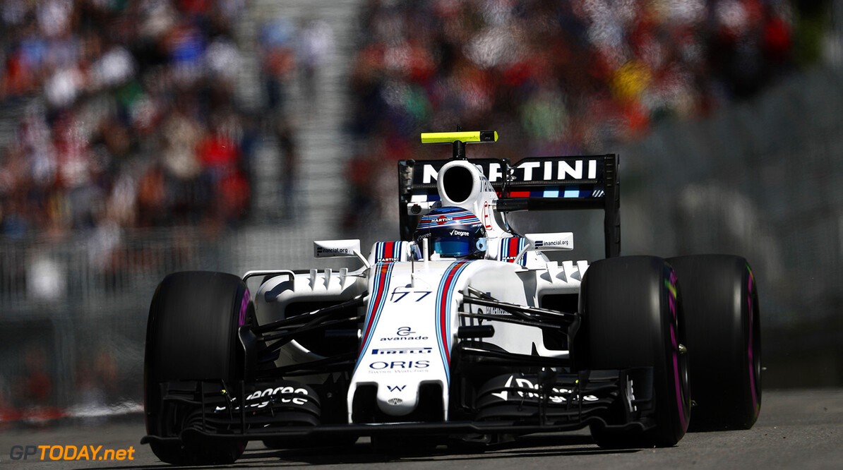 Circuit Gilles Villeneuve, Montreal, Canada. Friday 10 June 2016. Valtteri Bottas, Williams FW38 Mercedes. Photo: Glenn Dunbar/Williams ref: Digital Image _V2I1591      Action