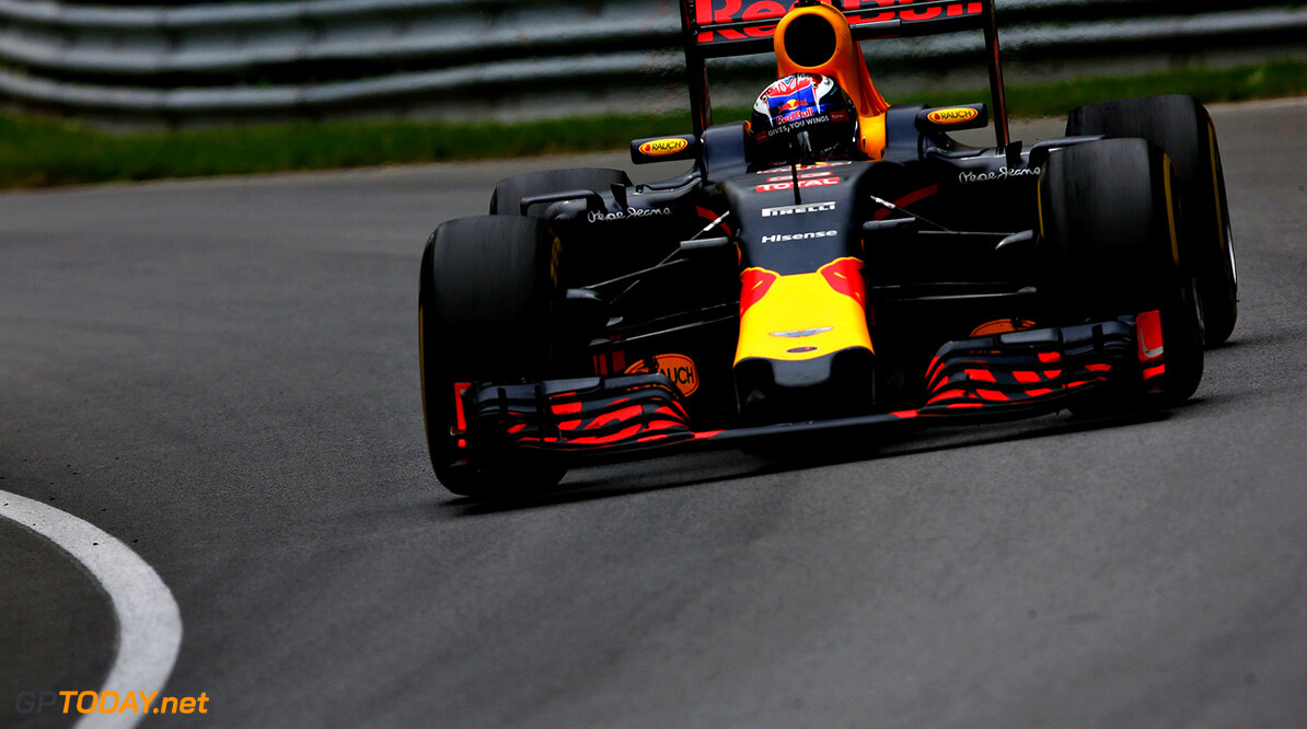 MONTREAL, QC - JUNE 12: Max Verstappen of the Netherlands driving the (33) Red Bull Racing Red Bull-TAG Heuer RB12 TAG Heuer on track during the Canadian Formula One Grand Prix at Circuit Gilles Villeneuve on June 12, 2016 in Montreal, Canada.  (Photo by Charles Coates/Getty Images) // Getty Images / Red Bull Content Pool  // P-20160613-00117 // Usage for editorial use only // Please go to www.redbullcontentpool.com for further information. //  Canadian F1 Grand Prix Charles Coates Montreal (City) Canada  P-20160613-00117