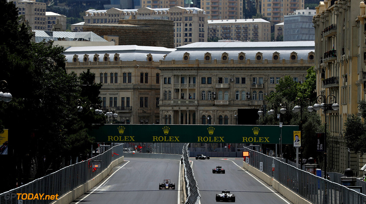 BAKU, AZERBAIJAN - JUNE 17: Daniil Kvyat of Russia driving the (26) Scuderia Toro Rosso STR11 Ferrari 060/5 turbo on track during practice for the European Formula One Grand Prix at Baku City Circuit on June 17, 2016 in Baku, Azerbaijan.  (Photo by Mark Thompson/Getty Images) // Getty Images / Red Bull Content Pool  // P-20160617-01991 // Usage for editorial use only // Please go to www.redbullcontentpool.com for further information. //  European F1 Grand Prix - Practice Mark Thompson  Azerbaijan  P-20160617-01991